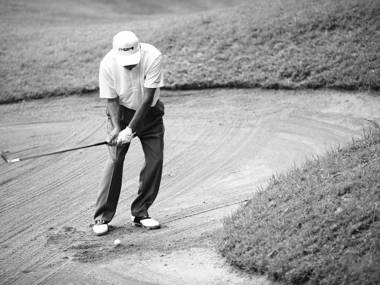 画像2: 【通勤GD】海老原清治&奥田靖己 もう一花のゴルフVol.4 とっておきの「1㍎バンカー」練習 ゴルフダイジェストWEB