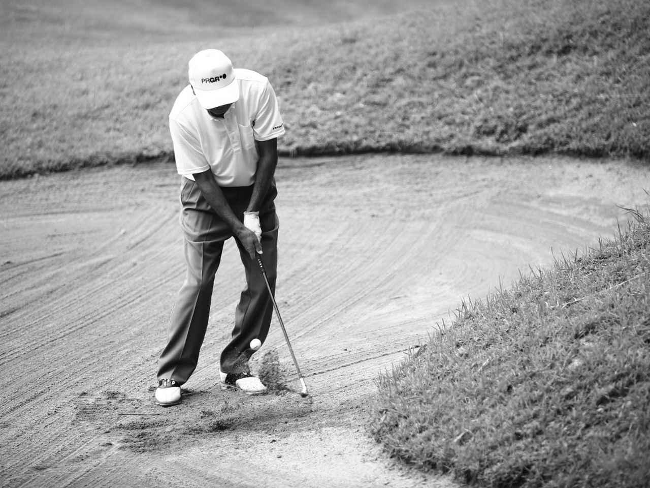 画像3: 【通勤GD】海老原清治&奥田靖己 もう一花のゴルフVol.4 とっておきの「1㍎バンカー」練習 ゴルフダイジェストWEB