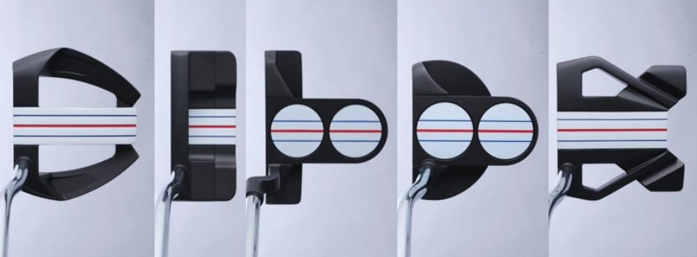 """画像2: 赤と青の""""三本線""""で真っすぐにしか打てない! トリプル・トラックパター(オデッセイ)"""