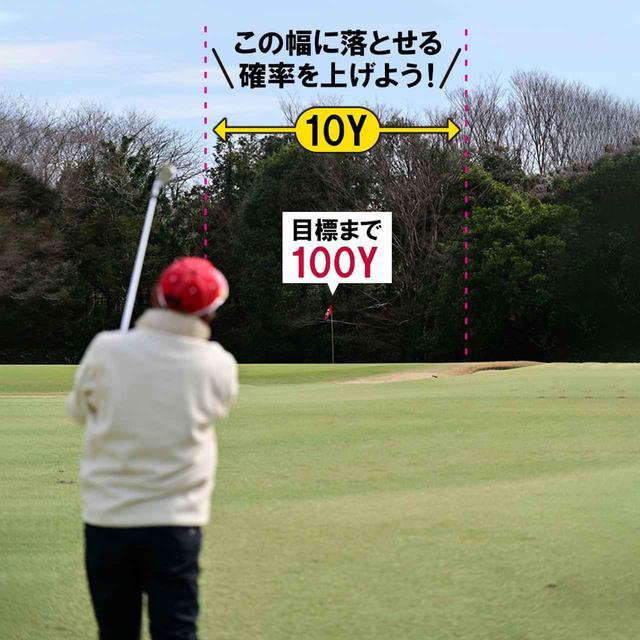 画像: 【ドリル2】ウェッジで100㍎先の目標を狙う
