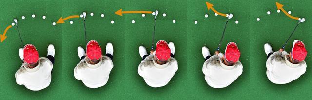 画像: 球の位置で球筋が変わるのを 体感してみよう