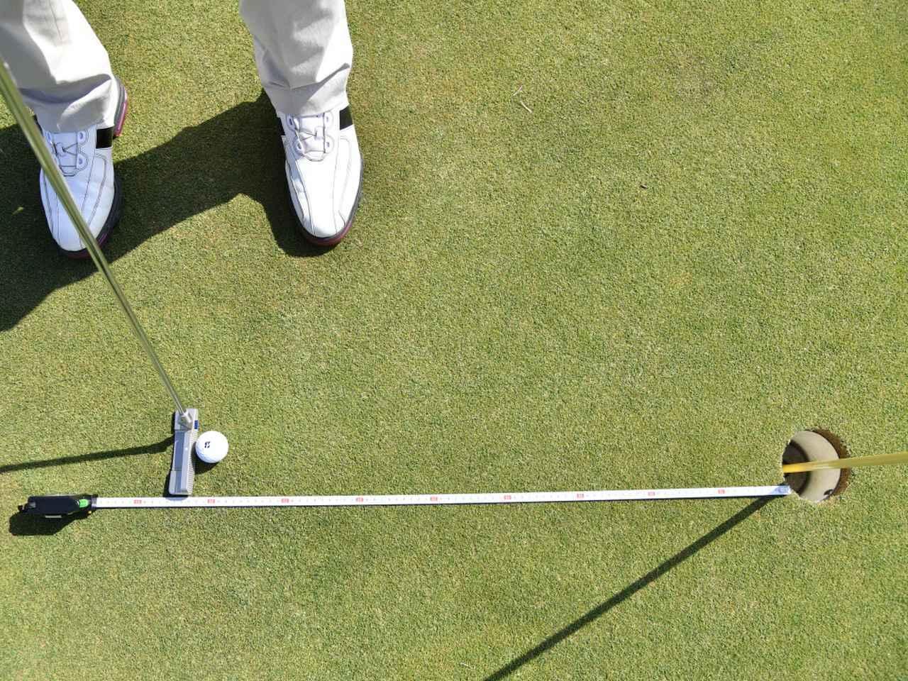 """画像4: 【パット上達】プロゴルファーみたいに""""パチン""""と打ちたいショートパット。「強気に真っすぐ」の境界線は何メートル?"""