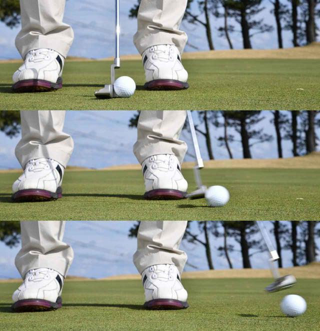 """画像5: 【パット上達】プロゴルファーみたいに""""パチン""""と打ちたいショートパット。「強気に真っすぐ」の境界線は何メートル?"""