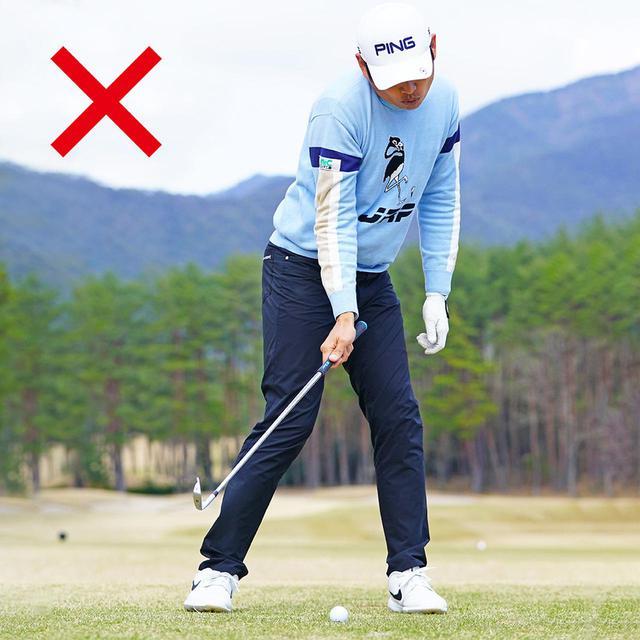 画像: 入射角がきついと、バックスピン量やインパクトのフェースの向きが一定しない。安定したショットが打てなくなる