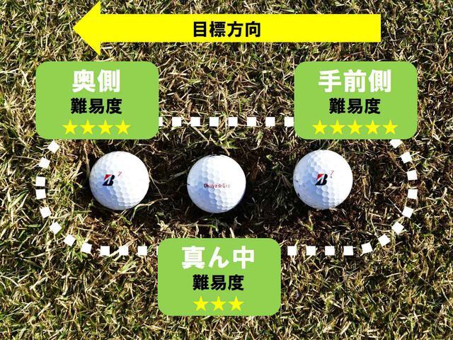 画像: ボールが止まった位置をチェック 「手前側」 が難易度MAX!