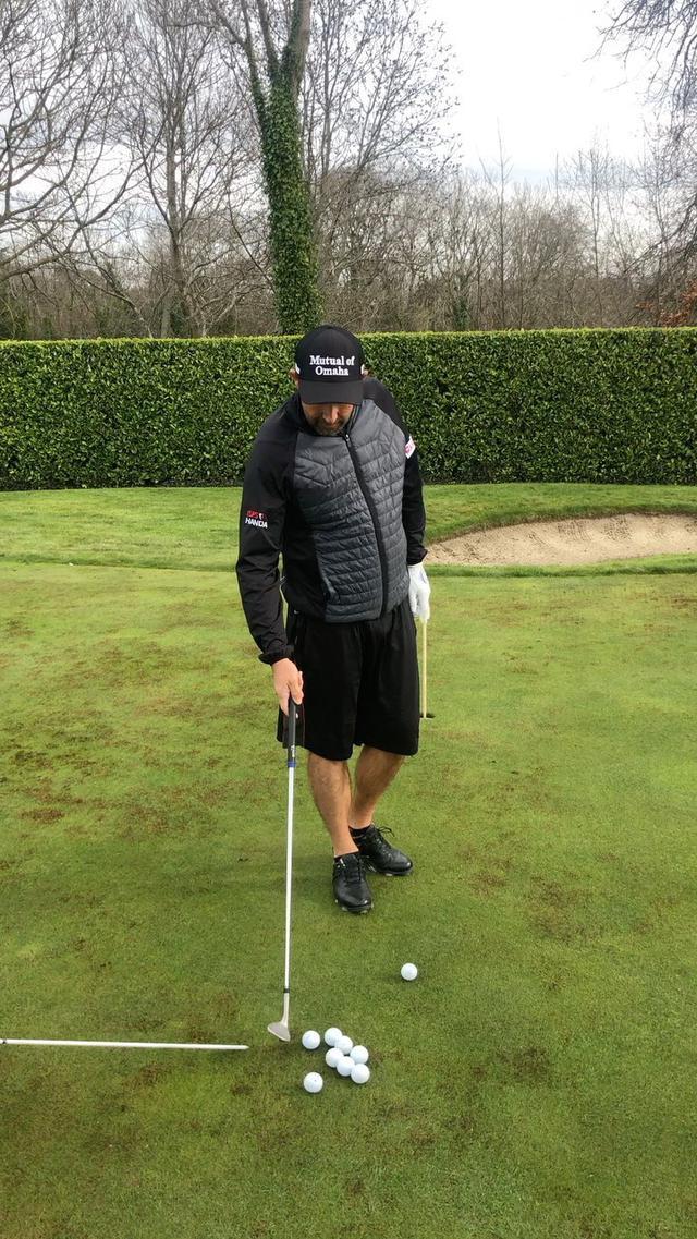 """画像: Padraig Harrington's Instagram profile post: """"How to hit a chip shot #europeantour  #pgatour #golfathome"""""""