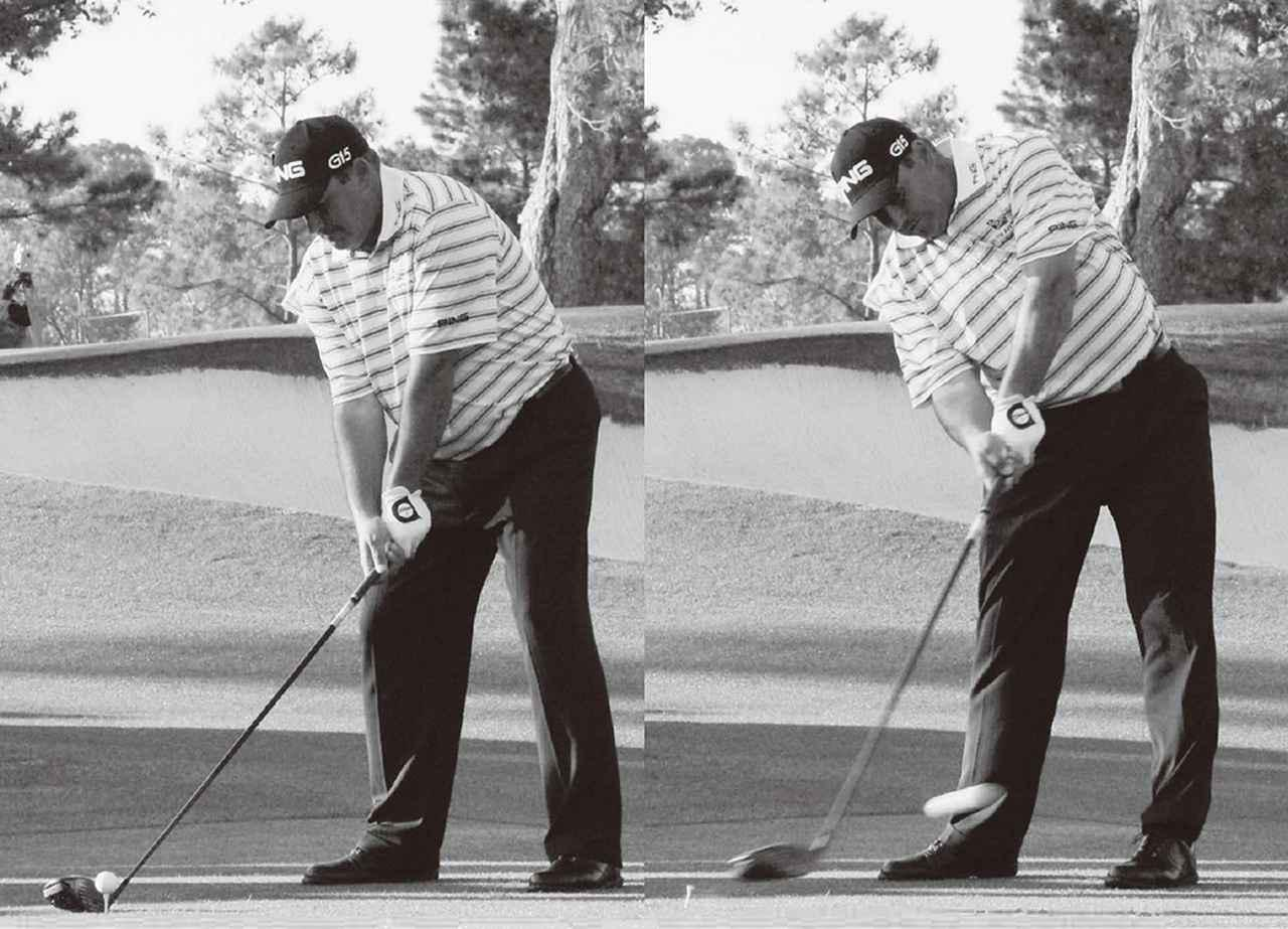 画像: アルゼンチンの名手、アンヘル・カブレラ。「飛ばそうとすれば、ひざは伸びるもの。伸びた下半身に対して、上半身は上から抑え込むように腹に力を入れる。だから、頭の高さが変わらないのです」(ユハラ)
