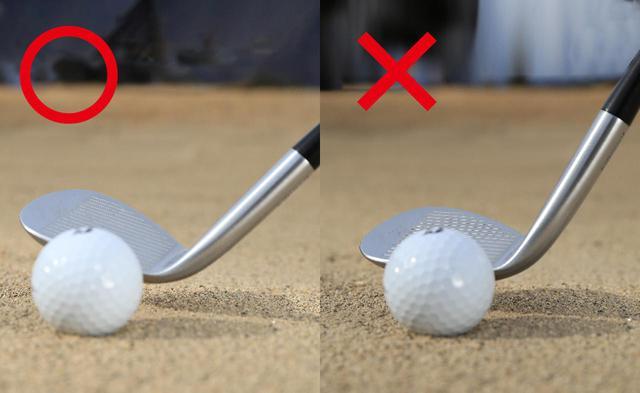 画像2: 【スウィングのポイント①】 左手を目標方向に押し込んでヘッドを遠くに振っていく