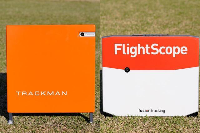 画像: (左)トラックマン4 (右)フライトスコープX3