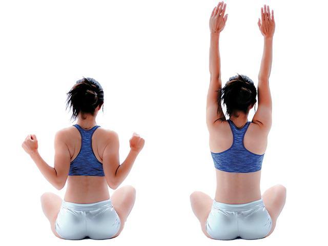 画像4: 【1】トップが深くなる 肩甲骨ストレッチ