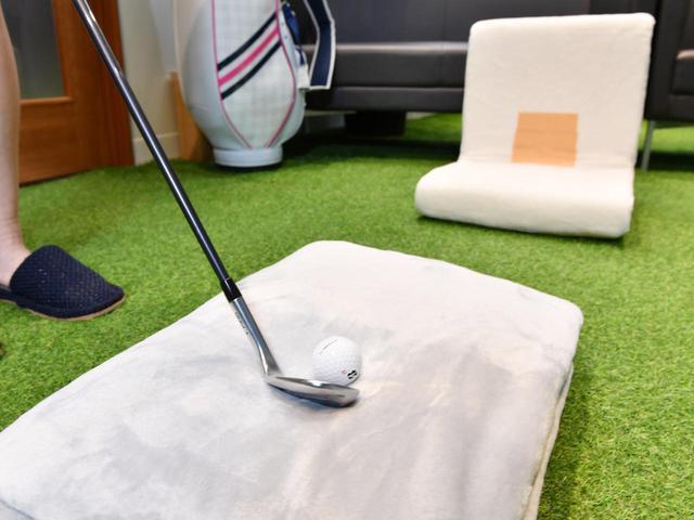 画像: 毛布の上のボールを1ヤードアプローチ。これは難易度が高いです
