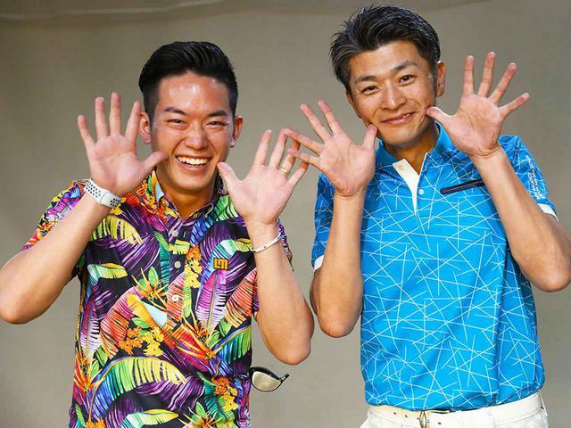 画像: 沼田祐貴プロ(左)東京都生まれ、28歳。2年間ささきしょうの専属キャディを務め、18年度優勝へと導いた。現在は、名古屋市にある『BAMBOOSHOOTS GOLF&FITNESSGYM』にてティーチングを行っている 櫻井良治さん(右)。愛知県生まれ/46歳/ゴルフ歴6年テンフィンガー歴4年