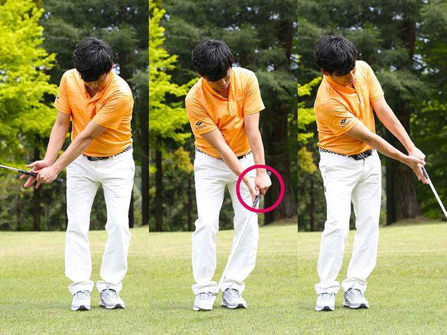 画像: 横から支えるだけ。右手はこねない