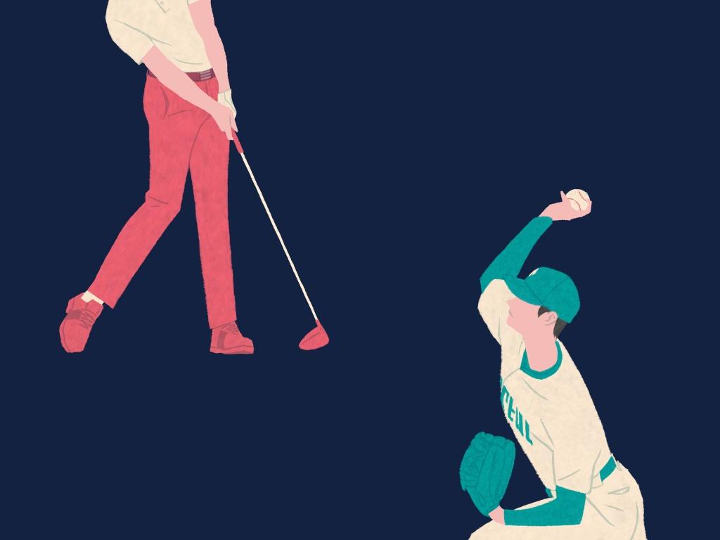 画像: ゴルフスウィングと野球の投球