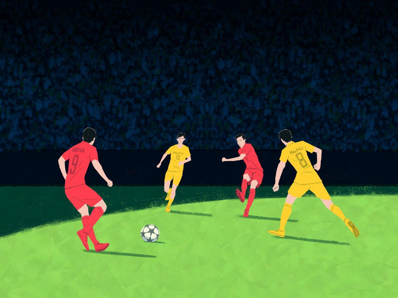 画像: サッカーで全員がボールを取りに行くと成立しない