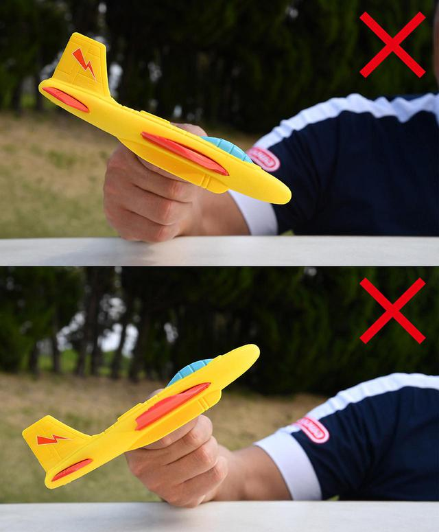画像: (上)ダウンブローは滑らかに降りられない (下)急激なアッパーも着陸できない