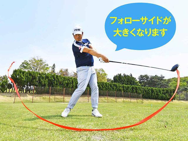 画像: ヘッドは体の回転で動かす
