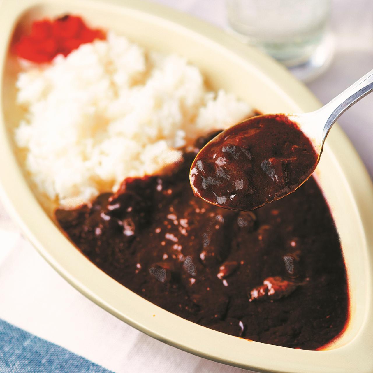 画像: アリス食堂の「飛騨牛黒カレー」 ※写真は盛り付け例です。ご飯・福神漬けは含まれません