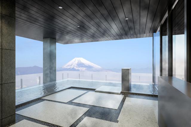 画像: 2020年6月30日オープンの「富士山三島東急ホテル」 最上階の展望温浴施設でゴルフの疲れも癒されます