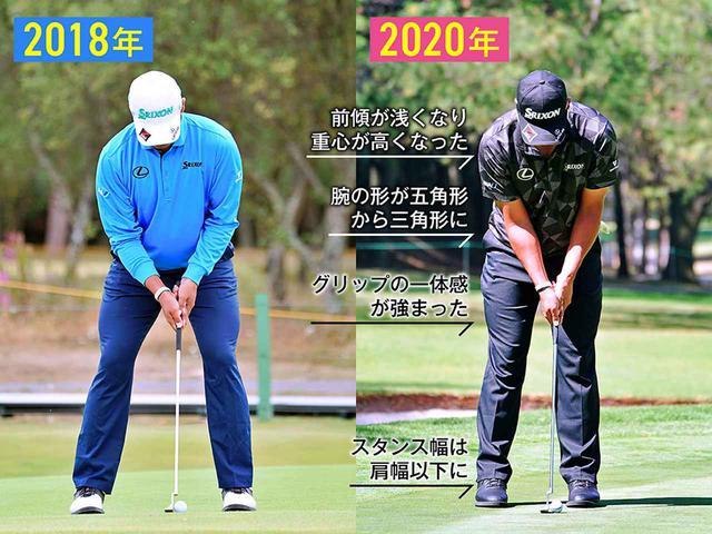 画像: (左)手の作業を入れて感覚を合わせていた、(右)ストロークが小さくなり軌道が安定