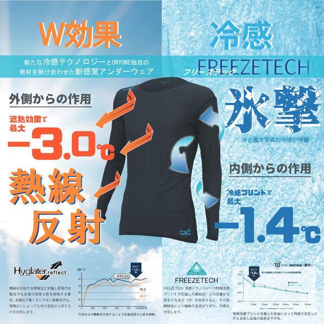 画像: オンヨネ熱線反射「-3.0℃」×氷撃「-1.4℃」アンダーウェア-ゴルフダイジェスト公式通販サイト「ゴルフポケット」