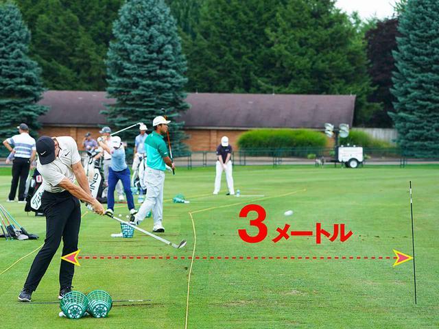 """画像: 棒までの距離は約3メートルほど。ボールの入ったカゴを""""おかわり""""してトラックマンの数値とにらめっこしていた"""