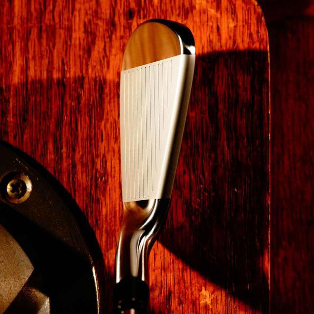 画像: トップラインがスッキリしたプロモデルヘッドで、フェース長、スコアラインが短いのでアドレスで引き締まった感がある。ストレートネックでスクェアに構えやすいのも特徴