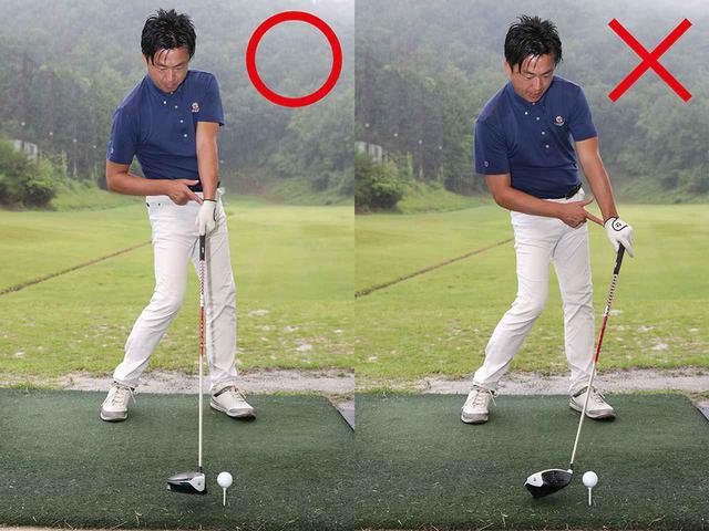 画像: 左手甲が空を向くとフェースが開いてスライスしてしまう