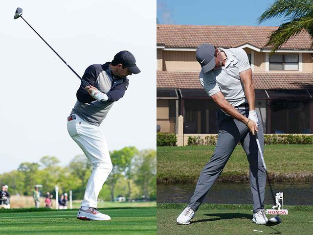 画像: ヘッドが重いので、脱力できていれば、ダウンで自然と左手甲が張る動きになる