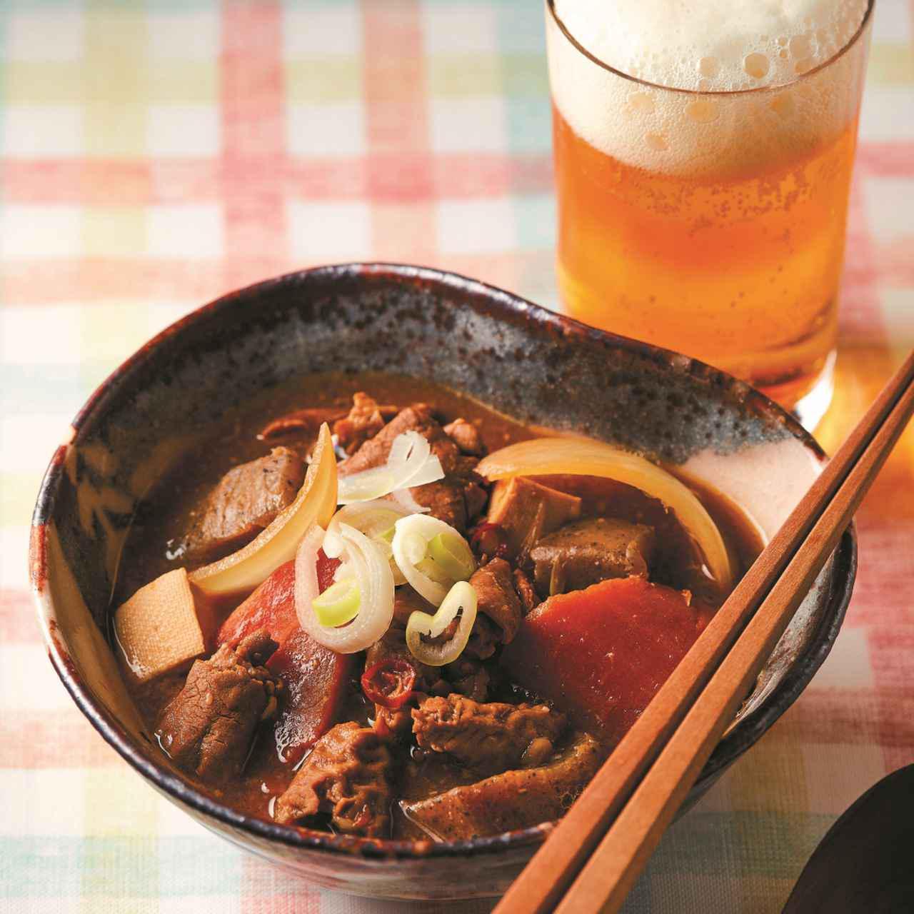 画像: 写真は盛り付け例です。豆腐と玉ねぎはお取り寄せには含まれません