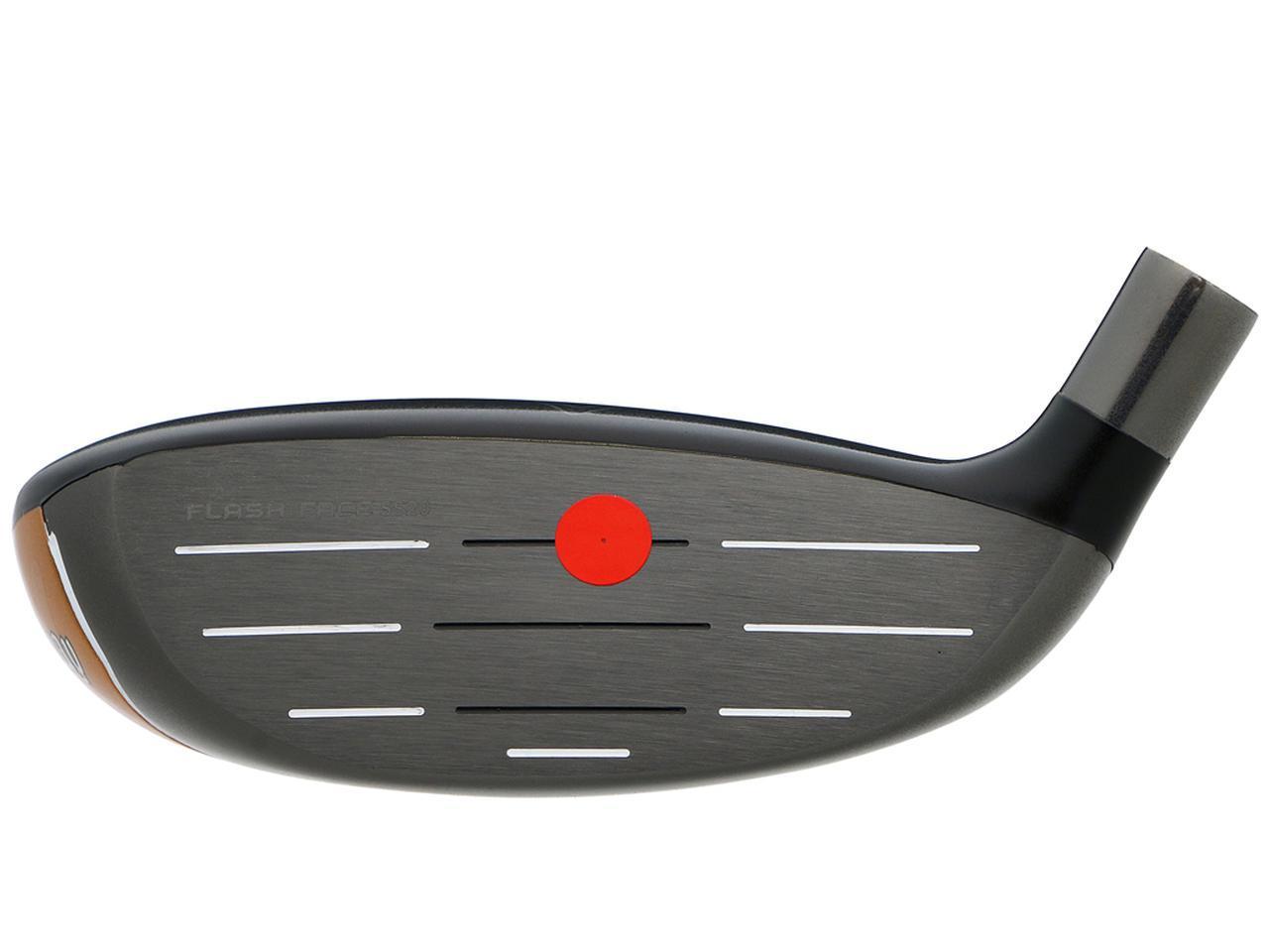 画像: スウィートスポットが高いので適度なスピン量で球が上がりやすい