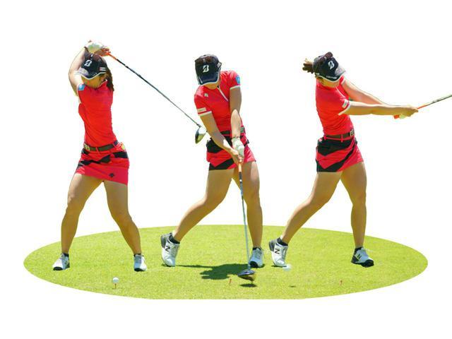画像: 前傾角度に対して肩が水平回転していたのが原因でスウィングに詰まりが生じ、ヘッド軌道も不安定に