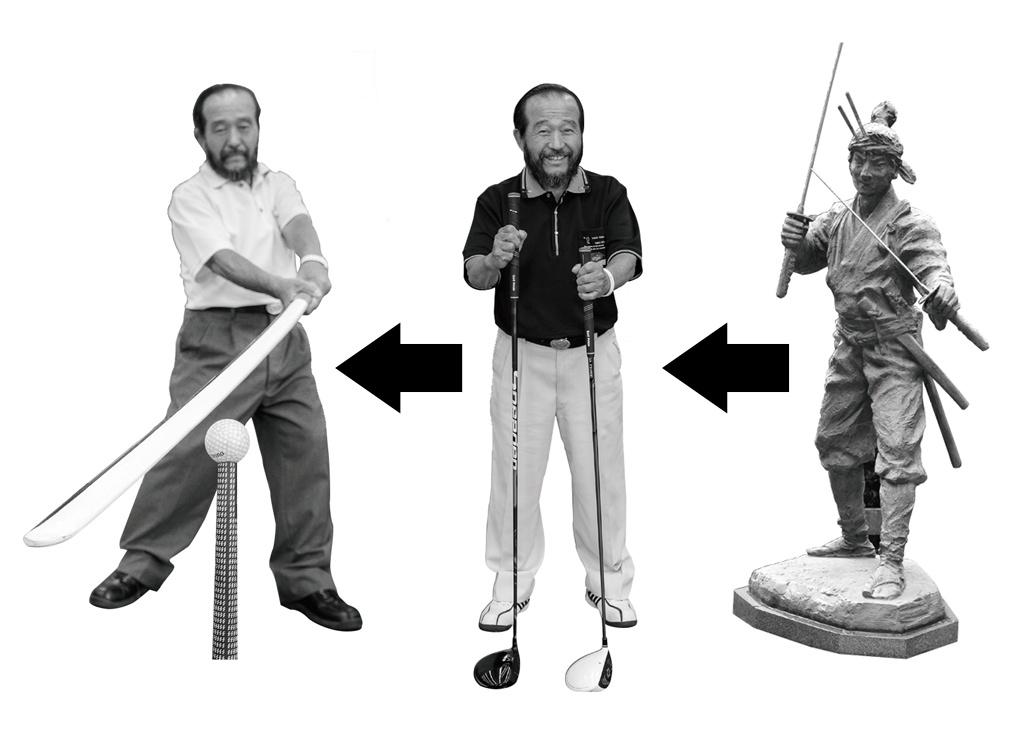 画像: (右から)宮本武蔵の「二刀流」ではなくて……ドライバーを2本!、テンフィンガーで刀を切るように振る