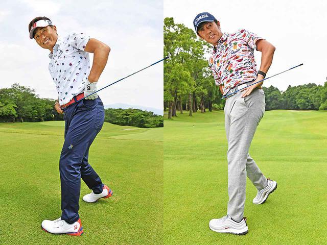 画像: 左)宮本勝昌プロ、右)石井 忍プロ