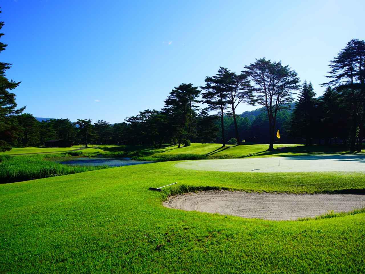 画像: 美しく管理された「軽井沢プリンスホテルゴルフコース」
