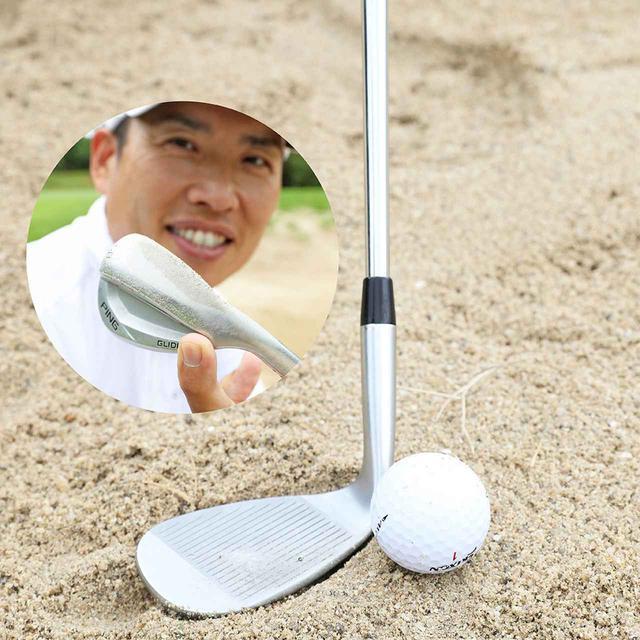 画像: ヒールを砂に当ててください