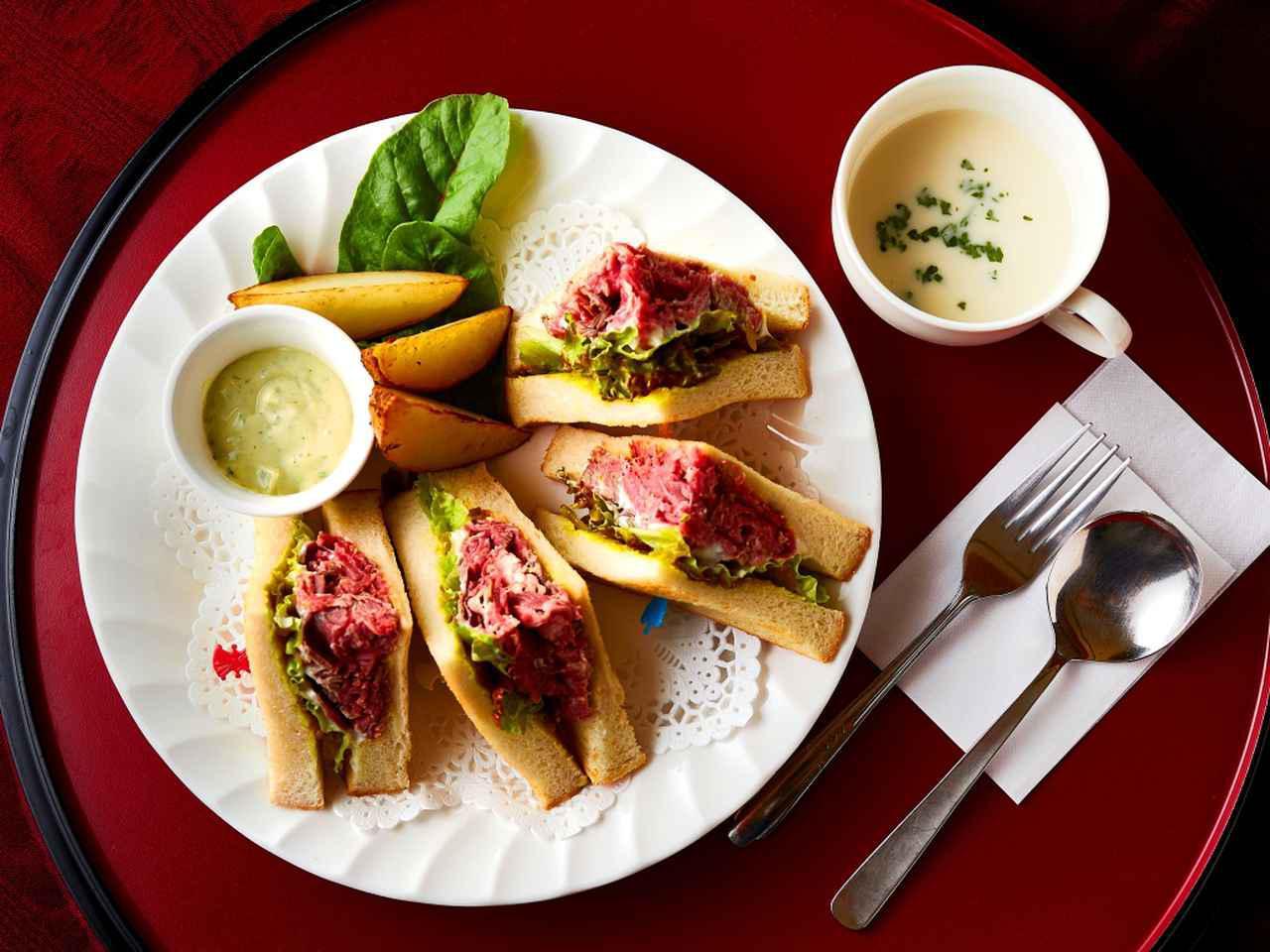画像: バジルソースはポテトやパンの耳につけても美味。スループレー後のテイクアウトメニュー(1300円)としても人気
