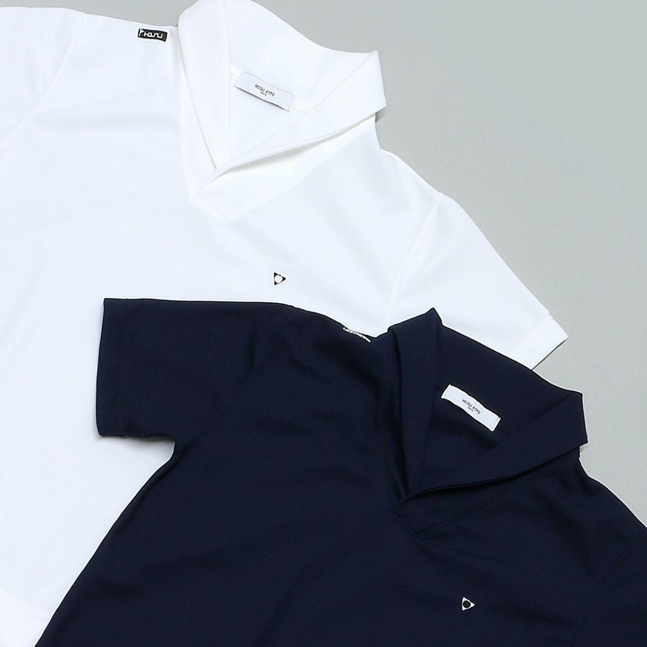 画像: 【大人のポロ】HOSU ショールカラードライポロシャツ-ゴルフダイジェスト公式通販サイト「ゴルフポケット」