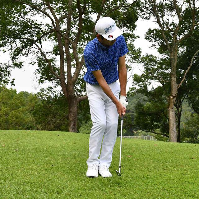 画像12: 【小技】逆目のアプローチ。距離感は? 番手は? さあ、どう打つ?