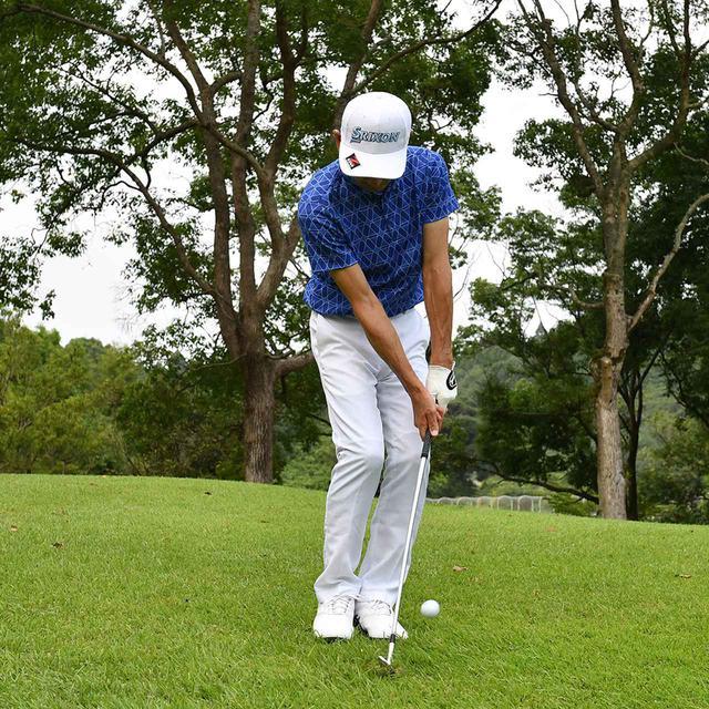 画像19: 【小技】逆目のアプローチ。距離感は? 番手は? さあ、どう打つ?