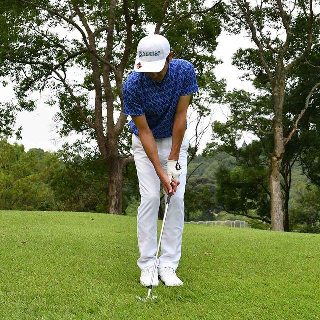 画像1: 【小技】逆目のアプローチ。距離感は? 番手は? さあ、どう打つ?