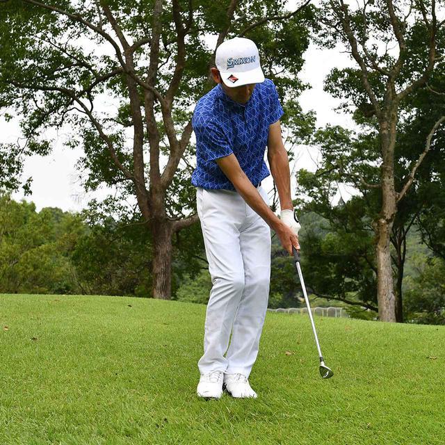 画像4: 【小技】逆目のアプローチ。距離感は? 番手は? さあ、どう打つ?