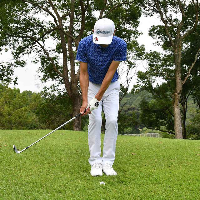 画像6: 【小技】逆目のアプローチ。距離感は? 番手は? さあ、どう打つ?