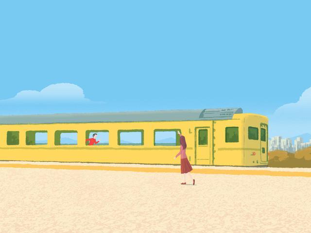 画像: 走る電車の中で逆走しても、外から見れば体は電車と同じ方向に動いている。これと同じで体が回転しているなかで腰が逆に回ろうとしても、実際に逆回転することはない