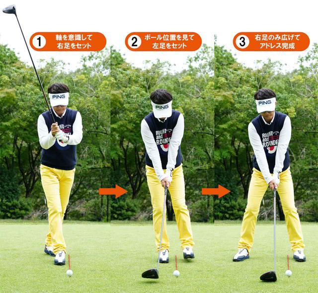 画像1: 【本番段階】 上体を開きながら 右足をセット