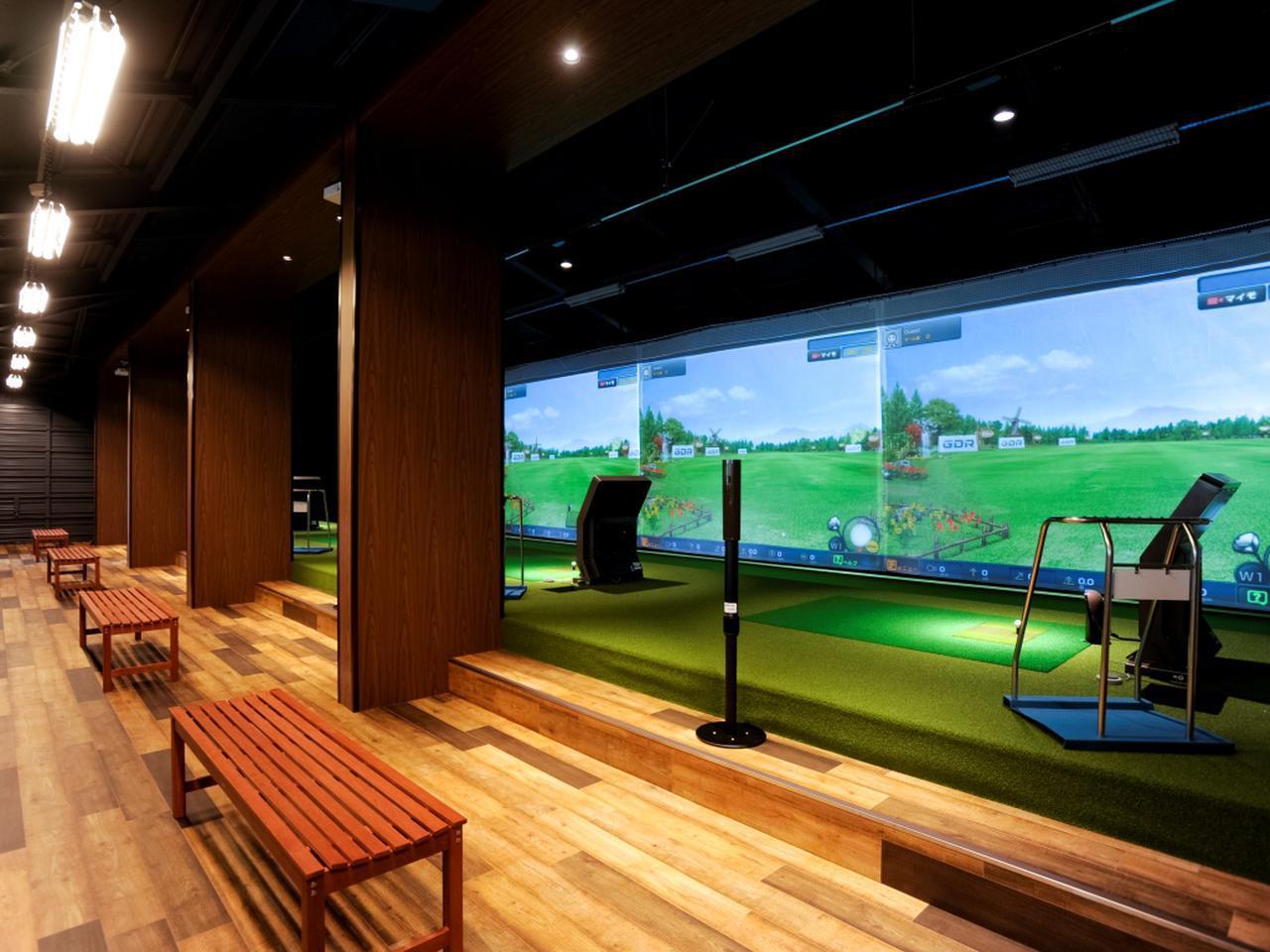 画像: 最新機器によるシミュレーションゴルフ(5打席)