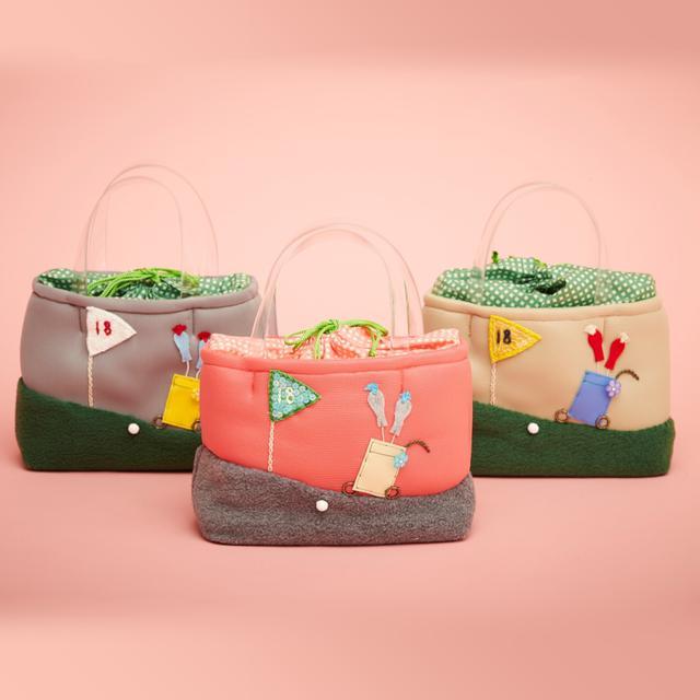 画像: 【世界に一つだけ】オリジナル刺繍入りラウンドバッグ acco colors-ゴルフダイジェスト公式通販サイト「ゴルフポケット」