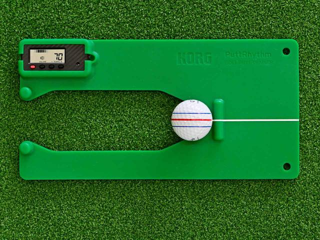 画像1: 自宅練習器具④ 正しい打点を自宅練習で習得! プロのような転がりが身につく KORG PuttRhythm (パットリズム)