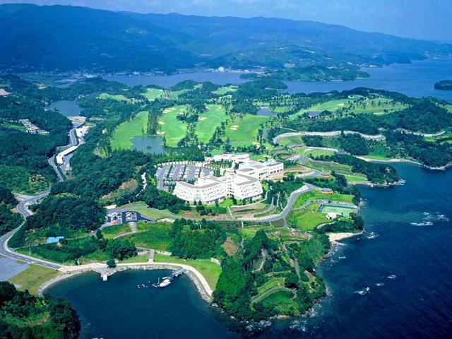 画像: 上空から見たパサージュ琴海アイランドゴルフクラブ