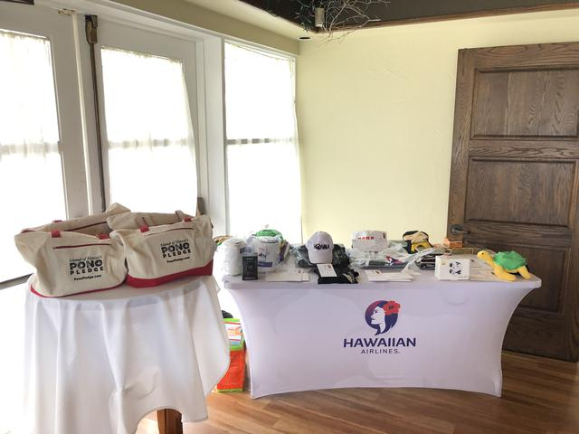 画像: 2019年ハワイ島大会のコンペ商品 ハワイアン航空の航空券、ハワイ島のホテル宿泊券など盛りだくさん